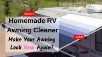 Homemade RV Awning Cleaner