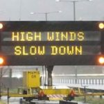 High Wind Sign