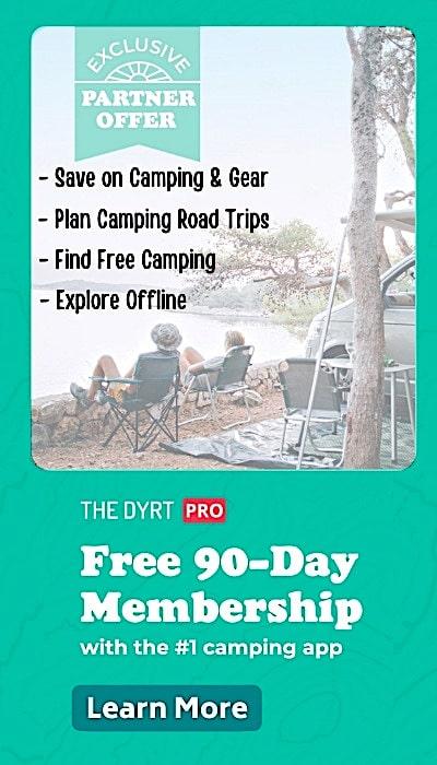The Dyrt Pro 90 Day FREE Membership